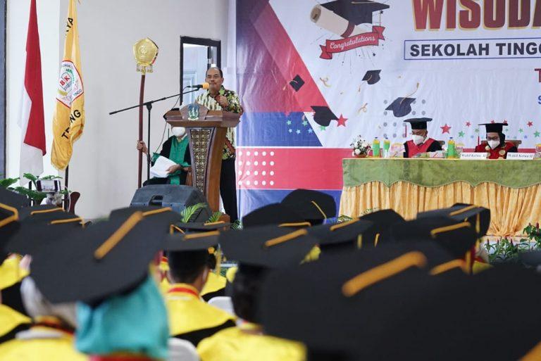Wali Kota Tebingtinggi Harapkan Lulusan STIE Bina Karya Kreatif dan Berinovasi Ciptakan Peluang Usaha