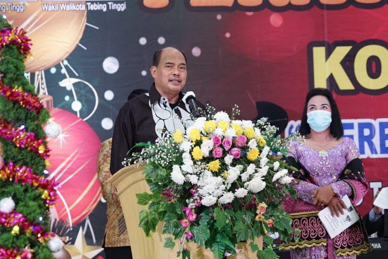 Walikota Tebingtinggi Hadiri Perayaan Natal Oikumene Di Gedung Balai Kartini
