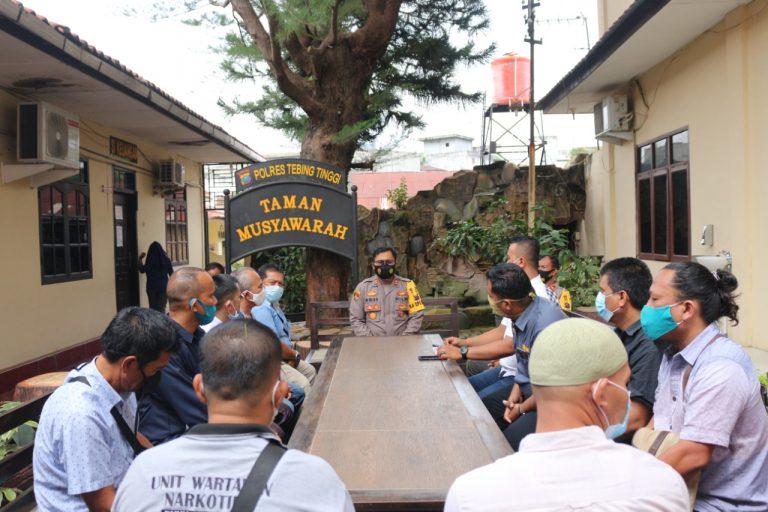 AKBP Agus Sugiyarso S.Ik Ajak Wartawan Kampanyekan  Disiplin Prokes