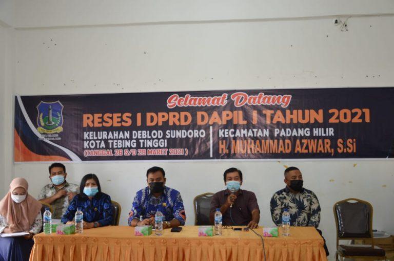 DPRD Tebingtinggi Laksanakan Reses Tahun 2021