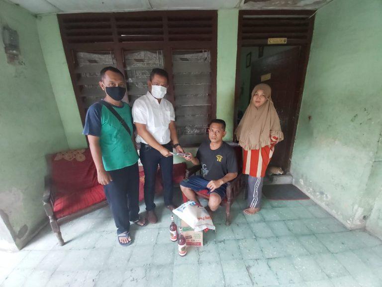 Jumat Barokah Ramadhan, Ketua Pewarta Santuni Panca Prihandoko Penderita Stroke  