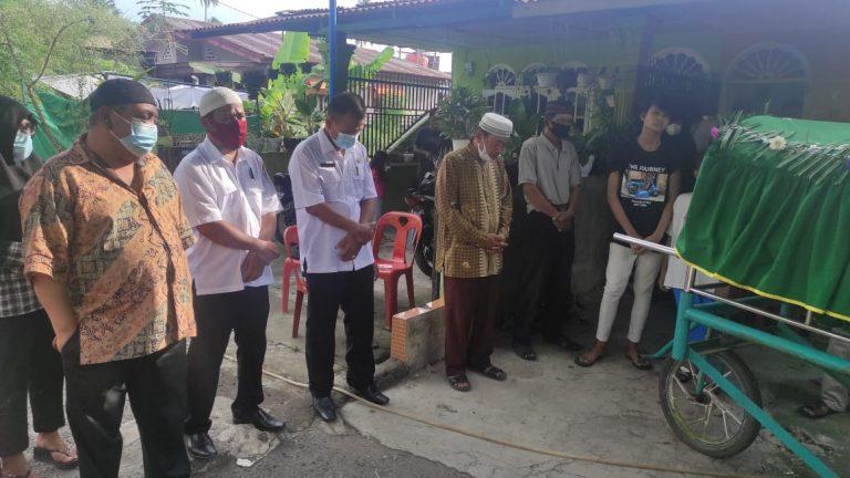 Ketua PWI Sumut H Hermansjah SE Takjiah Ke Rumah Anggota Kemalangan