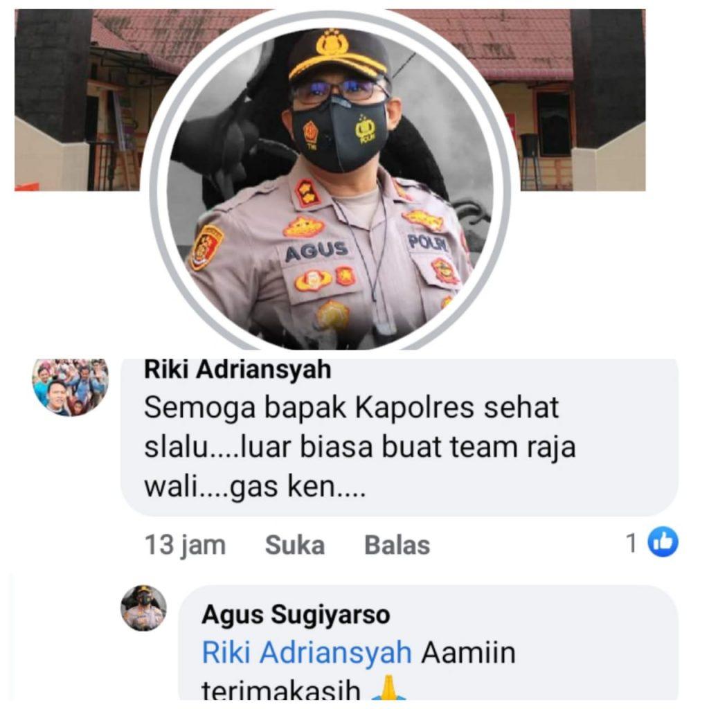 Foto Akun Facebook AKBP Agus Sugiyarso