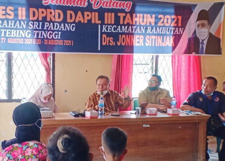 Drs Joner Sitinjak Ketua Komisi III DPRD Tebingtinggi Akan Panggil Dinsos Terkait Bantuan Ke Warga